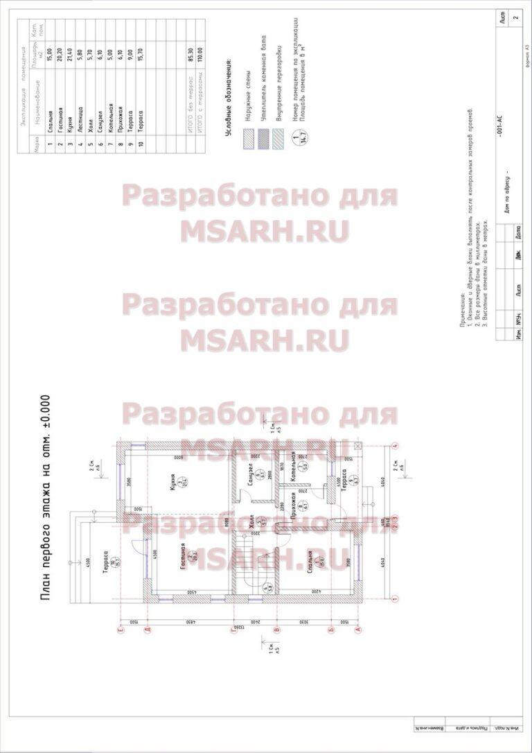 09 пример проекта - проект дома